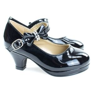 Girls Patent Leather Mary Jane Black Dress Shoes